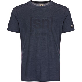 super.natural Essential I.D. - T-shirt manches courtes Homme - bleu